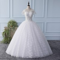 Gaun Pengantin 1803016 Putih Lengan Pendek Wedding Gown