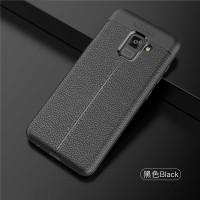 LEATHER AUTO FOCUS Samsung A8 - A8 Plus 2018 soft case casing hp cover