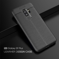 LEATHER AUTO FOCUS Samsung S9 - S9 Plus soft case casing hp back cover