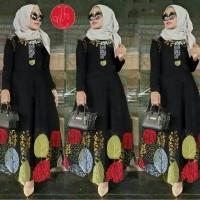 Gamis maxi firda   baju muslim wanita terbaru