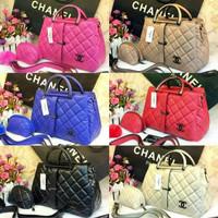 Tas Chanel Set Wanita Mom Kids Anak Rantai Hand Bag Murah Tas Batam