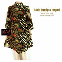 Tunik / Dress Batik Lancip Tiga Negeri