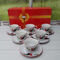 (GOJEK) TEA SET AYAM JAGO MODERN DUS MERAH / 6 SET =12 PCS / KPU02