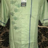 Baju Koko AlMia Motif Terbaru Size Besar Ld 128cm
