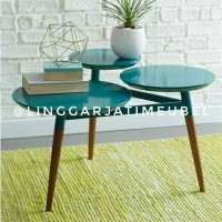 jual coffeetable murah set sofa retro meja minimalis modern meja bulat