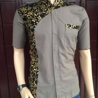 Baju Koko Kombinasi Batik Pekalongan