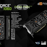 VGA Nvidia Digital Alliance GTX 1060 3gb Dual Fan - Graphic Card