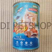 Makanan Kucing Super Cat Baby Kitten - Tuna & Minced Chicken- 400g