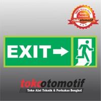 Sticker Safety Sign K3 Tanda Arah Exit Arrow Right