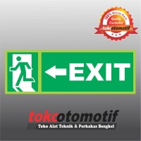 Sticker Safety Sign K3 Tanda Arah Exit Arrow Left
