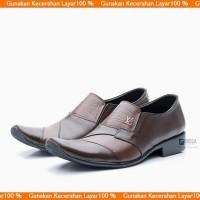 Sepatu Pantofel Kulit untuk Kerja Kantor bukan Kickers 902COKLAT