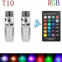 New! Lampu Led T10  Remote Wireless Rgb Lampu Kota Senja Motor Mobil