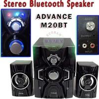 New! M20Bt Stereo Bluetooth Aktif Speaker Advance Active Fm Subwoofer