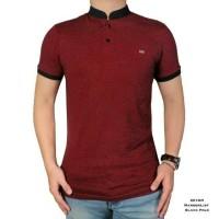 BAJU KAOS PRIA Kaos Polo Shirt Pria Berkerah Shanghai Merah Lacost