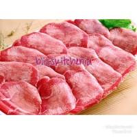 Harga daging lidah sapi slice aus impor ox tongue sliced gyutan | antitipu.com