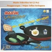 MAXIM Valentino Set (2 Pcs) Penggorengan / Wajan Teflon Serbaguna
