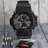 G-SHOCK CASIO R3 FULL BLACK JAM TANGAN PRIA NOT SKMEI SMARTWATCH MUR