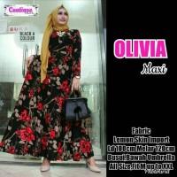 Gamis Olivia dress big size by cantique Berkualitas