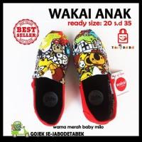 Diskon ! Sepatu Wakai Anak - Merah Baby Milo. Sepatu Anak. Wakai Anak