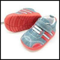 Harga Terbaik ! Sepatu Walker Anak Laki-Laki Import Kets Biru Merah