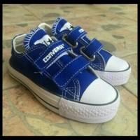 Harga Grosir! Sepatu Converse Anak Low Perekat - Navy, Converse Anak