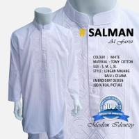 Stelan  Pakistan, Baju Koko Bordir, Baju Koko Putih SLM