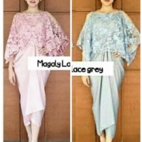 DRESS gaun pesta wanita baju branded mewah elegan dress midi kebaya