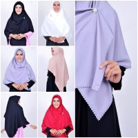 Hijab Rinjani Pon Polos, Kerudung Segi Empat, Hijab Instan Muslimah