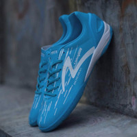 Sepatu Futsal Accelerator Lightspeed IN Blue White Original 100