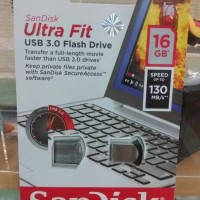 ASLI IMPORT - SANDISK FLASHDISK 16 GB ULTRA FIT CZ43 USB 3.0 UP TO