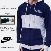 Jaket Premium Nike Combi Navy Abu Size S, M, L, XL, 2