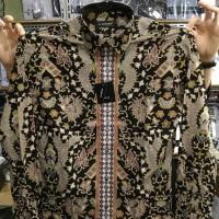 Jual Kemeja Batik Alisan Slim fit Lengan Panjang Motif Lis Murah