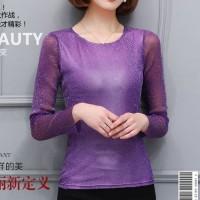 Violet Bright Wire - Baju Atasan Wanita Import - Baju Korea Style