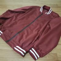 [HARGA GROSIR] Jaket Baseball Varsity Polos - Merah Maroon
