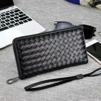 dompet bottega v zipper large black.  ori leather.. high quality