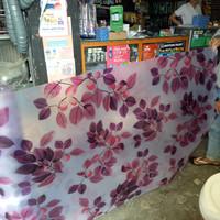fiber pagar motif daun