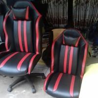 Kursi Gaming Racing Garis jok mobil, warnet hitam merah komputer new