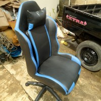 Kursi Gaming Racing Garis jok mobil, hitam biru komputer new