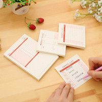 Stick Note Checklist, Weekly Plan, Monthly Plan (Kecil)