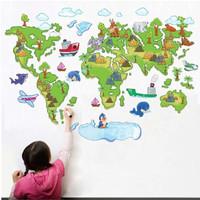 wall sticker wallsticker sticker dekorasi dinding world map ABC1001