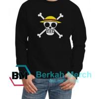 Jaket Sweater Bajajk Laut Topi Jerami - Hitam - Berkah Merch