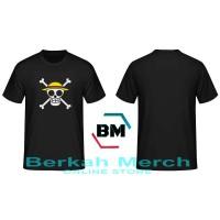 Tshirt / Kaos Bajak Laut Topi Jerami - Hitam - Berkah Merch