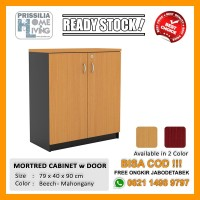 [READY STOCK] Lemari Penyimpanan Minimalis Mortred Cabinet w/ Door