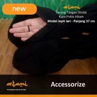 Harga murah Sarung Tangan Sholat Hitam Model Jepit Jari Kaos Panjang