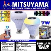 MS-0707 bohlam lampu led musik bluetooth speaker plus remote