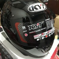 Helm KYT R10 Full Face Polos Black Metalic