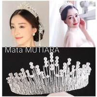 Mahkota rambut tiara wedding crown pesta pengantin CC095 thumbnail