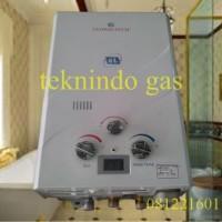 Water Heater Gas globaltech + digital suhu