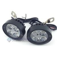 Harga murah Lampu Tembak Sorot LED Spion Motor Cree 4 Mata 12W 12V-24V