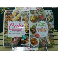 Paket 2 Buku Home Cooking Ala Xanders Dan Simple & Moist Cake